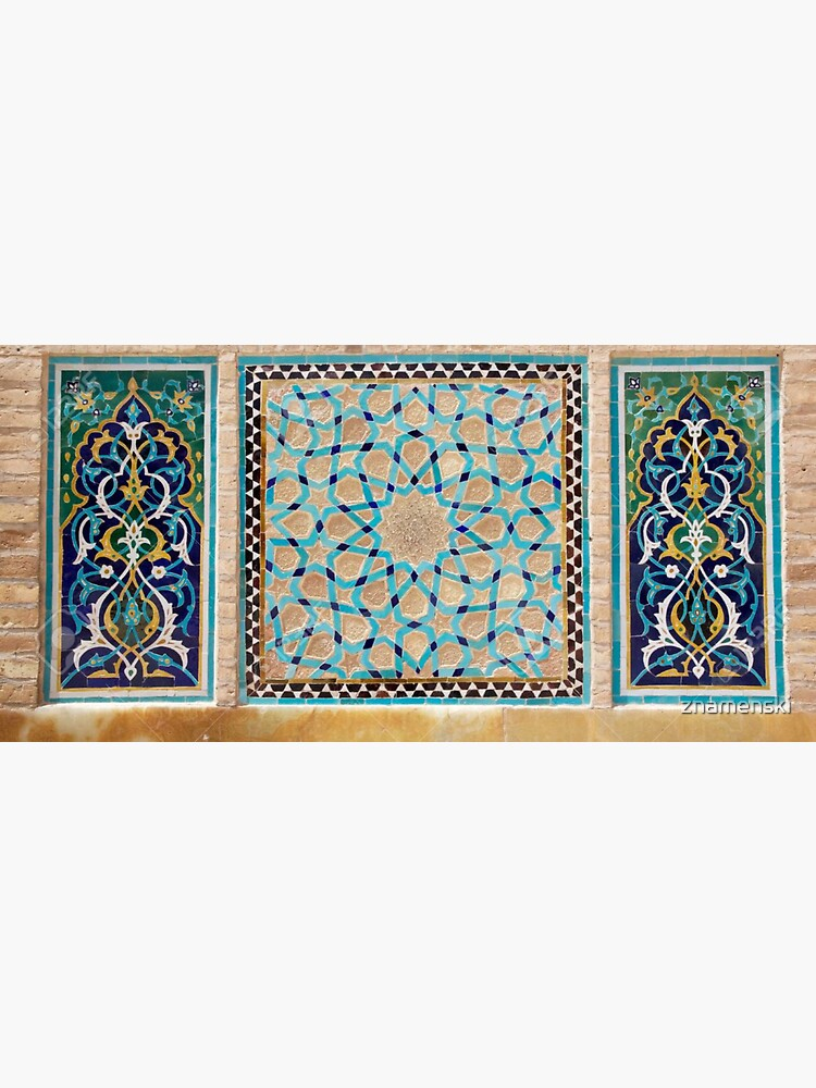 Details of the mosaic at the Jame Mosque of Yazd by znamenski