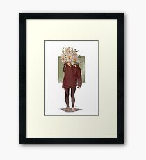 care and the daisies Framed Print