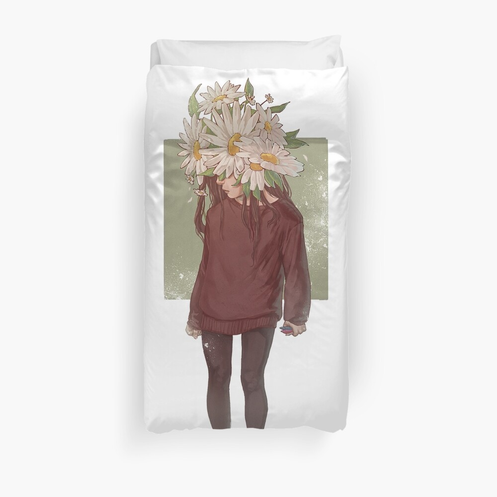 care and the daisies Duvet Cover