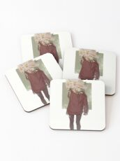 care and the daisies Coasters