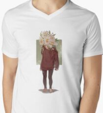 care and the daisies V-Neck T-Shirt