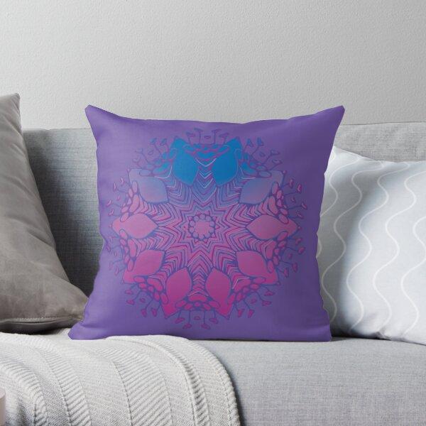 Abstract Flowerhead 16 Throw Pillow