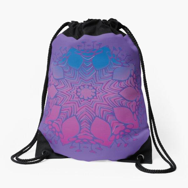 Abstract Flowerhead 16 Drawstring Bag