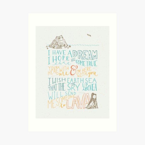 I Lava You Art Print