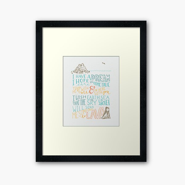 I Lava You Framed Art Print
