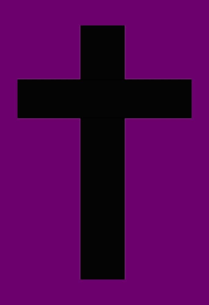Purple and Black Goth Cross by mintdawn