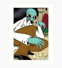 Mantus Finds Popcorn Pupae on the Greenmyn Moon Art Print