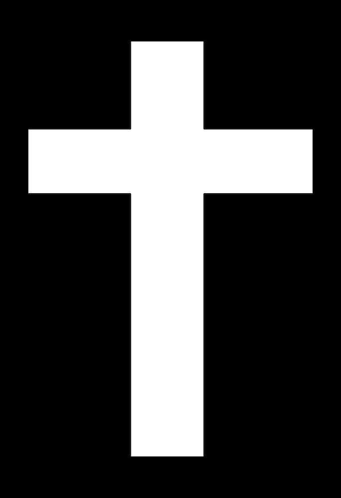 Black and White Goth Cross by mintdawn