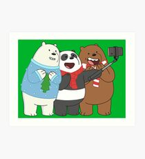 We Bare Bears Art Print