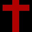 Black and Red Goth Cross by mintdawn