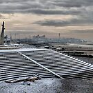 Dusk at Frosty Cleveleys  by Lilian Marshall