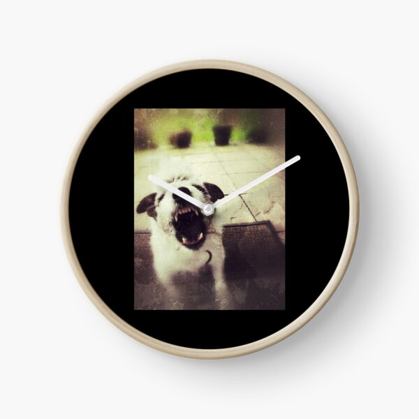 Angry Jack Russell Clock