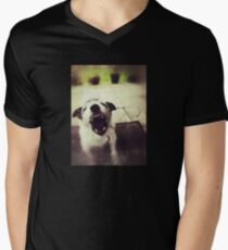 Angry Jack Russell V-Neck T-Shirt