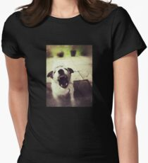Angry Jack Russell Fitted T-Shirt