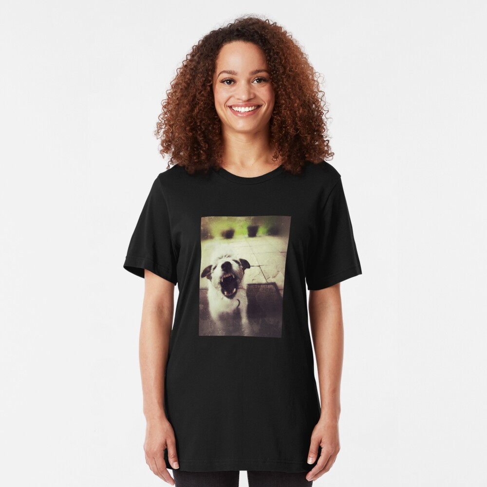Angry Jack Russell Slim Fit T-Shirt