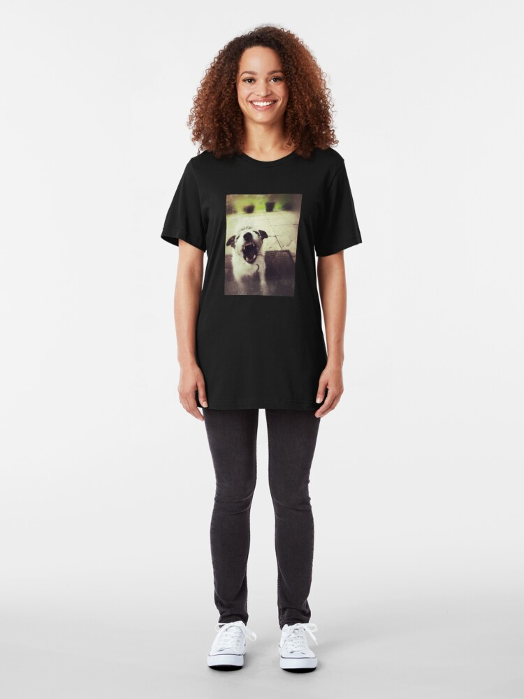 Alternate view of Angry Jack Russell Slim Fit T-Shirt