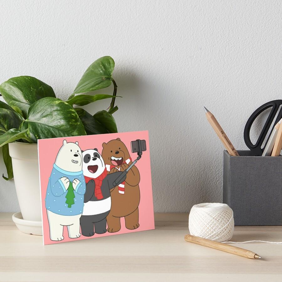 We Bare Bears Art Board Print
