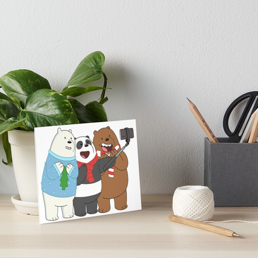 We Bare Bears Art Board Print