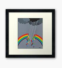 BROKEN RAINBOW - BRUSH AND GOUACHE Framed Print