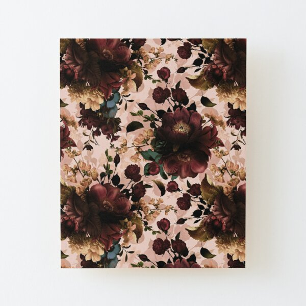 Moody florals - Mystic Night 11 Wood Mounted Print
