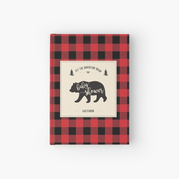 Lumberjack Baby Shower Guest book Hardcover Journal