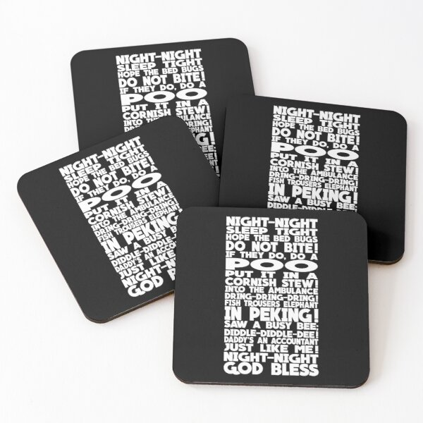 Richie's Bed Time Rhyme Design Coasters (Set of 4)