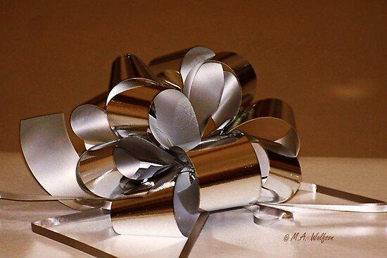 Holiday Ribbon by Monica Wolfson