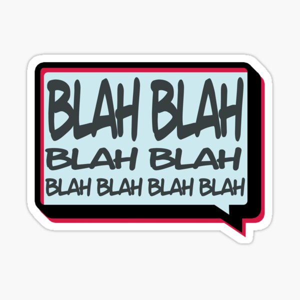 Blah Sticker