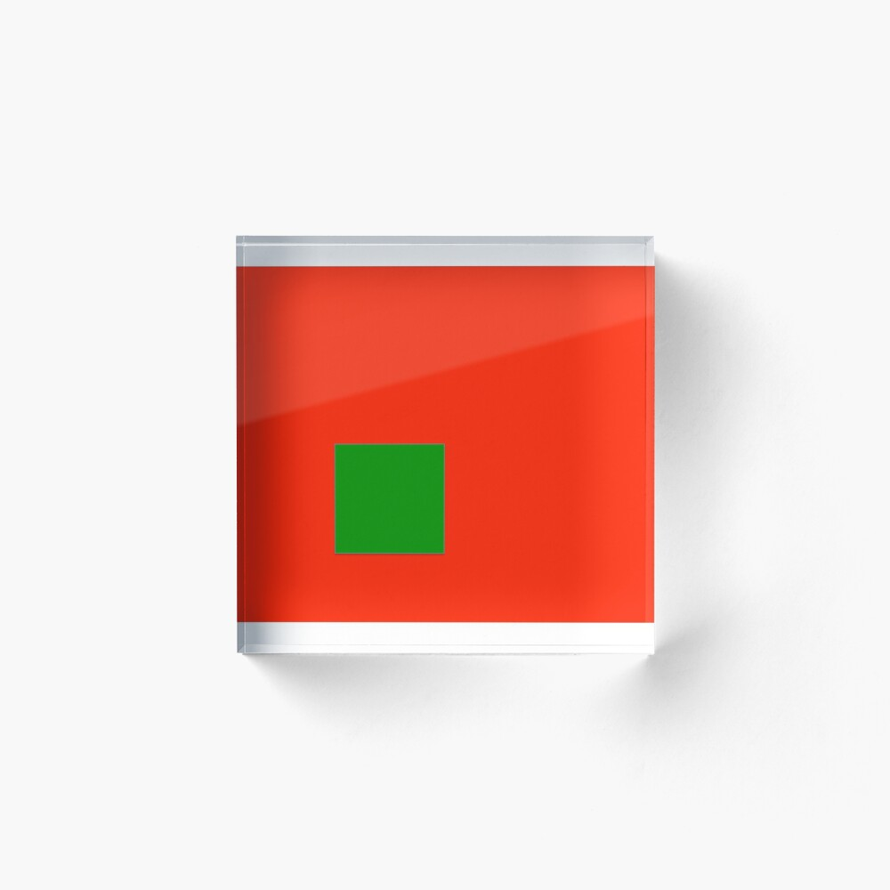 Minimalist Frog and Cranberries Acrylic Block