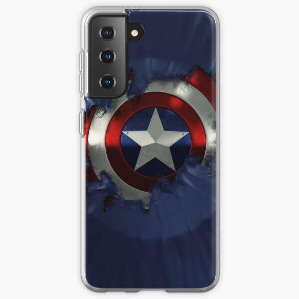Captain A break through Samsung Galaxy Soft Case