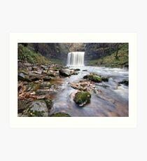 Sgwd yr Eira waterfall Art Print