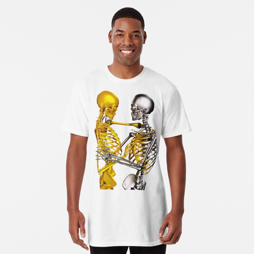 Golden Touch Skeletons in love Long T-Shirt