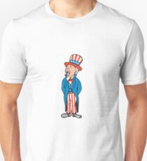 Uncle Sam American Shouting Cartoon Unisex T-Shirt