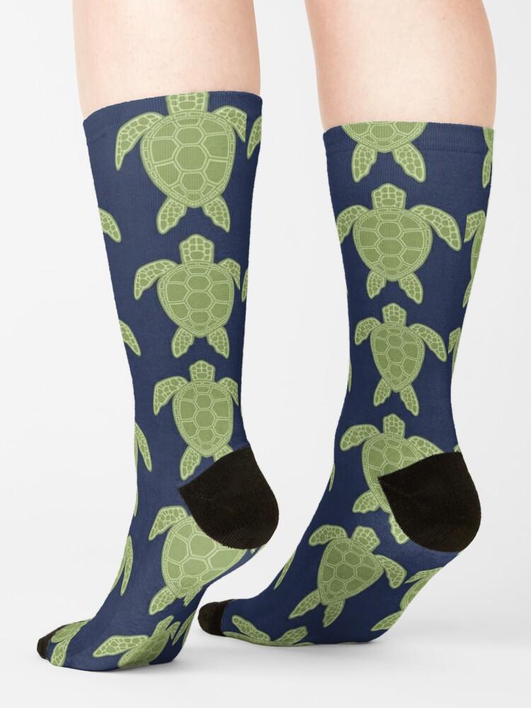 Alternate view of Green Sea Turtle Design Socks