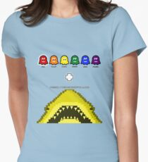 Super Shark + Ghosts Arcade Fitted T-Shirt