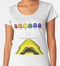 Super Shark + Ghosts Arcade Premium Scoop T-Shirt