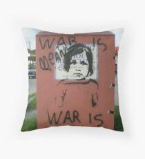 War is Mean Throw Pillow