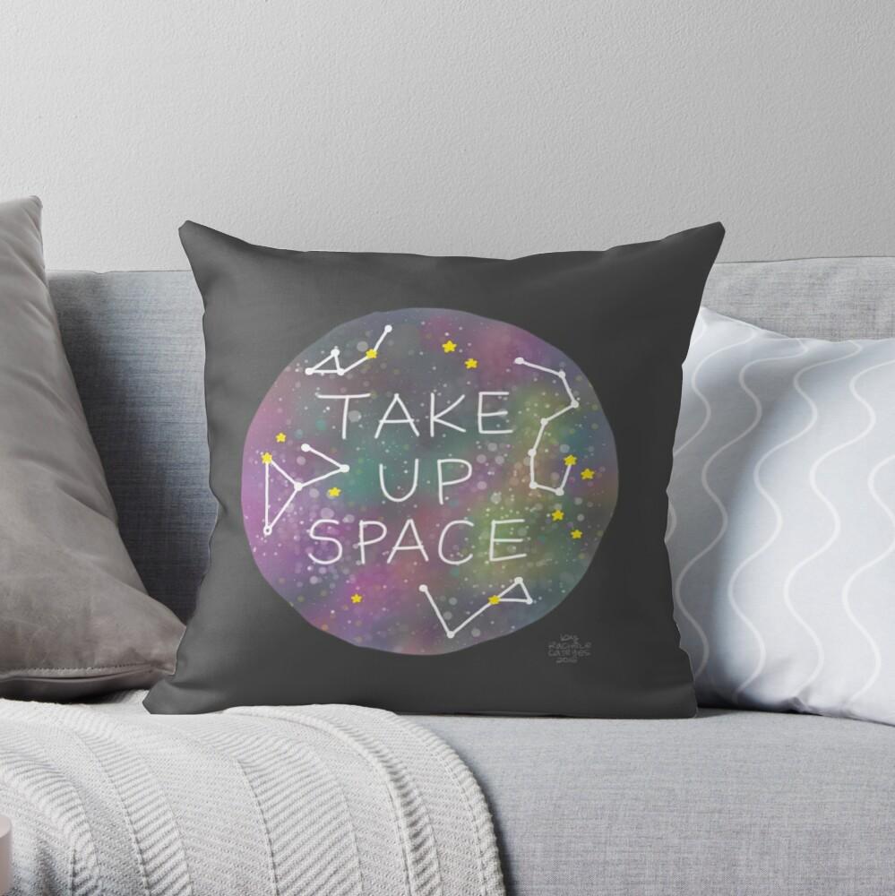 Take Up Space Throw Pillow