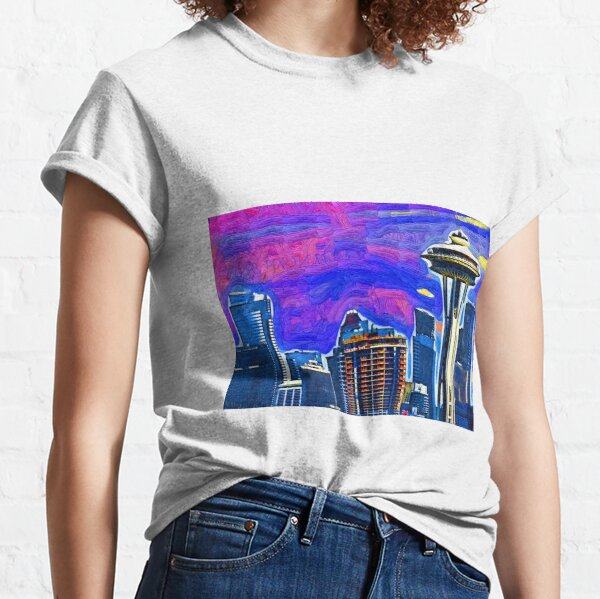 Spece Needle Fauvism Style  Classic T-Shirt