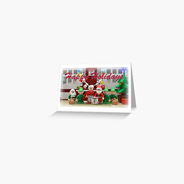 Happy Holidays From The North Pole (Text) Greeting Card