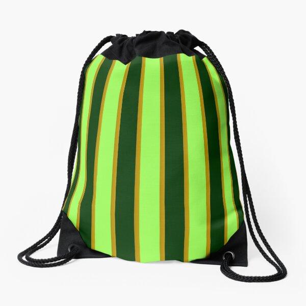 Green and Gold Drawstring Bag