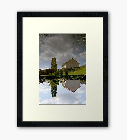 Twisted fish pond at La Londe, Normandy Framed Print