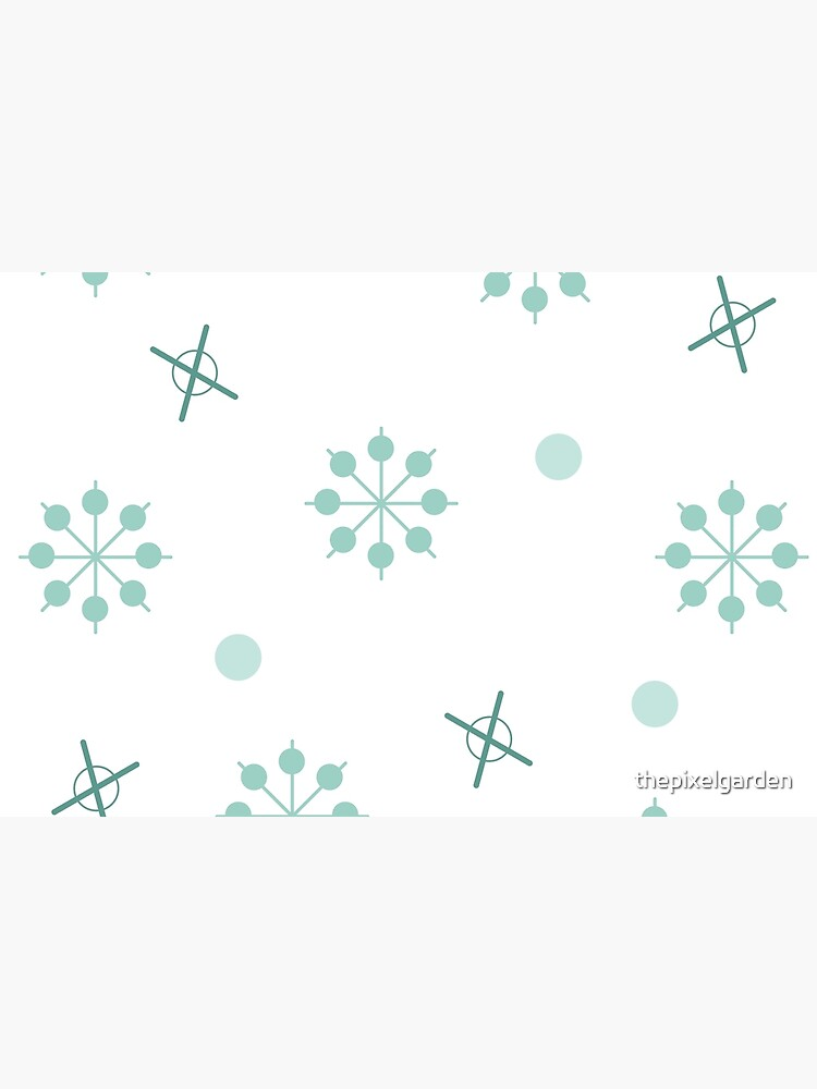 Atomic Age Sputnik Starbursts Winter Green by thepixelgarden
