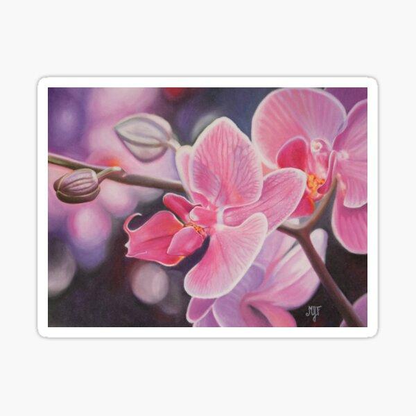 Orchidée au pastel sec Sticker