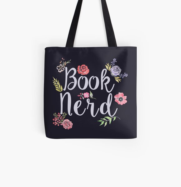 Book Nerd Reverse All Over Print Tote Bag