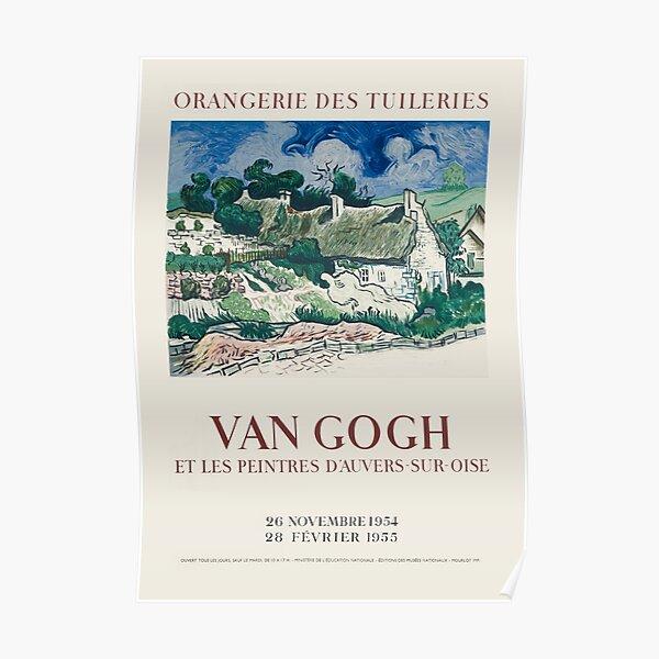 """Vincent van Gogh - Original French Exhibition Poster """"Van Gogh Et Les Peintres d'Auvers-Sur-Oise"""" at the Orangerie Des Tuileries, 1954 Poster"""