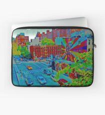 New York Street Scene Art Laptop Sleeve