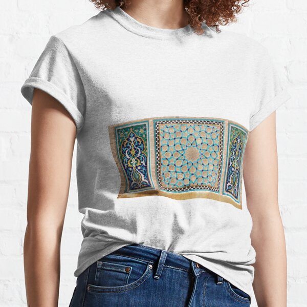 Details of the mosaic at the Jame Mosque of Yazd Classic T-Shirt
