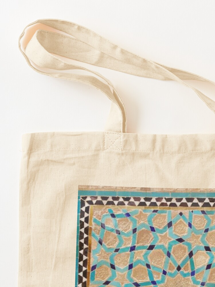 Alternate view of Details of the mosaic at the Jame Mosque of Yazd Tote Bag