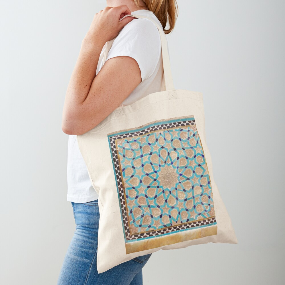 Details of the mosaic at the Jame Mosque of Yazd Tote Bag